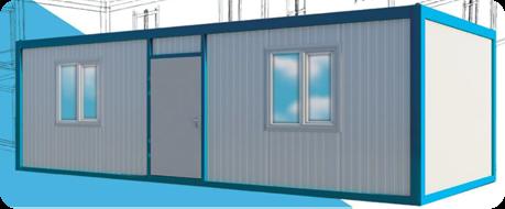 Container d 39 habitation pr fabriqu - Garage prefabrique metallique ...